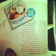 My cookbook, Simple & Delicious: Recipes from the Heart is Good Housekeeping's Cookbook of the Month. :)