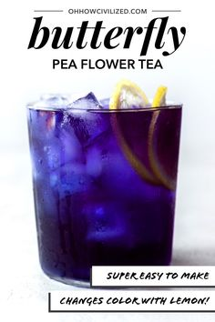 Super easy to make, find out what makes butterfly pea flower tea change from a bright blue when first steeped to a beautiful jewel tone purple! Refreshing lemon flavor not only changes the color but also gives this herbal drink a delicious flavor! Tea Cocktails, Fun Drinks, Beverages, Butterfly Pea Flower Tea, How To Make Butterfly, Making Iced Tea, Used Tea Bags, Tea Recipes, Drink Recipes