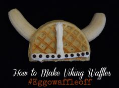 viking waffles - recipes with Eggo waffles Burton Brandt Eggo Waffles, Pancakes, Dragon Birthday, 4th Birthday, Helmet Of Salvation, Viking Food, Cute Food, Good Food, Viking Party