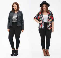 ZAFUL offers a wide selection of trendy fashion style women's clothing. Affordable prices on new tops, dresses, outerwear and more. Hipster Outfits, Curvy Outfits, Fall Outfits, Casual Outfits, Fashion Outfits, Plus Size Blog, Look Plus Size, Curvy Girl Fashion, Trendy Fashion