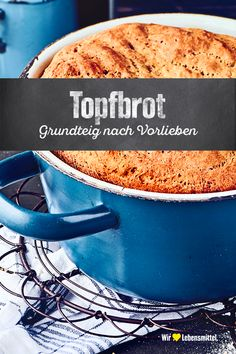 Delicious homemade bread pot: Depending on the whim of the basic dough with walnuts, sunflower seeds, pumpkin seeds and spices such as rosemary or thyme can be added Waffle Recipes, Easy Cake Recipes, Baking Recipes, Cooking Bread, Bread Baking, Healthy Breakfast Casserole, Easy Vanilla Cake Recipe, Easy Bread, Pampered Chef