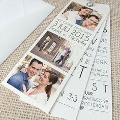 Trouwkaart • Weddingcard • Weddingcard design • studiosproet.com Wedding Themes, Wedding Designs, Wedding Cards, Wedding Favors, Wedding Gifts, Our Wedding, Dream Wedding, Wedding Decorations, Photo Wedding Invitations