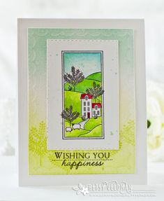The Hills Series Revisited - Wishing You Happiness Card by Betsy Veldman for Papertrey Ink (January 2017)