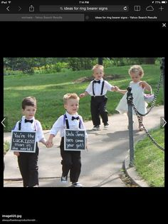 Ring bearer sign idea!