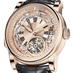 """Roger Dubuis Hommage Minute Repeater Tourbillon Automatic Watch """"The original goal of the Hommage collection was to evoke the original designs that Roger Dubuis himself created for his eponymous brand back in the 1990s."""