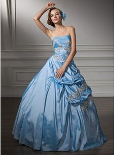 Cinderella costume - Ball-Gown Sweetheart Floor-Length Taffeta Quinceanera Dress With Ruffle Beading Appliques Lace Sequins