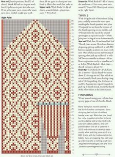 Вязание варежек спицами Knitted Mittens Pattern, Knit Mittens, Mitten Gloves, Knitting Charts, Hand Knitting, Knitting Patterns, Knit Art, Fair Isle Pattern, Knitting Accessories