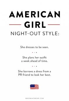 How American women dress for a night out