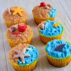 Leuke strandcupcakes, how to op de site