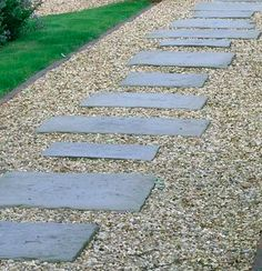 Wood Pathway, Paver Path, Stepping Stone Paths, Stone Walkway, Cement Pavers, Concrete Path, Gravel Garden, Garden Paths, Outdoor Spaces