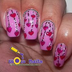 WoW Nails: Valentine's Nail Art Series Part 2: Beads & Hearts Nail Art