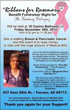 Benefit Fundraiser for Rosemary 11/16/2012