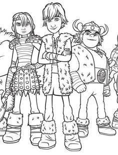 Hiccup from How to train your dragon coloring pages for