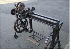 JP Antique Treadle Lathe