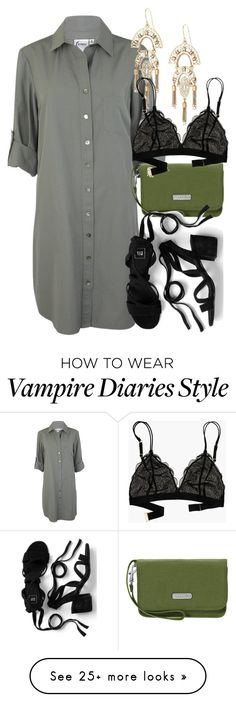 """Kol Inspired Party Outfit - The Vampire Diaries / The Originals"" by fangsandfashion on Polyvore featuring Baggallini, Stella & Dot and Madewell"
