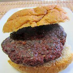 Grilled Spicy Venison Burger