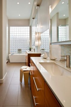 Glass Block Window Bathroom Contemporary With Wall Sconce