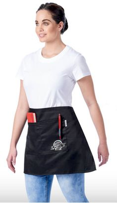 Serve up your brand in style with the Promo Waiters Apron. It has a front patch pocket and herringbone tape ties. Hospital Gifts, Half Apron, Heat Press, Hospitality, Herringbone, How To Apply, Restaurant, Gift Ideas, Cotton