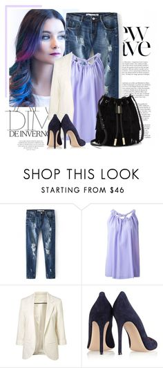 """""""Purple"""" by itaylorswift13 ❤ liked on Polyvore featuring Anja, Erika Cavallini Semi-Couture, Gianvito Rossi and Vince Camuto"""