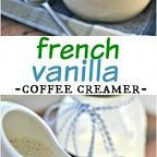 French Vanilla Coffee Creamer, made at home using only 3 ingredients! Vanilla Coffee Creamer, Baker And Cook, Shugary Sweets, Build A Blog, French Vanilla, Sweet Life, 3 Ingredients, Cooking, Recipes