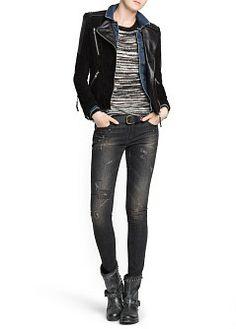 MANGO - CLOTHING - Jeans - Super slim-fit black Sara jeans