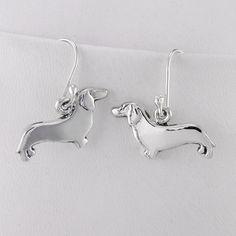 Sterling Silver Dachshund Earrings by FineARF
