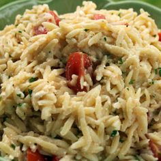Orzo with Feta and Tomatoes.