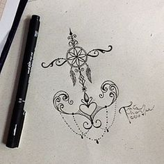 Meio âncora, meio filtro dos sonhos, meio coração, meio mandala.. 😂 disponível!