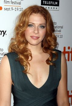 Rachelle Lefevre's red, curly hairstyle