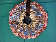 Tattered and Inked: Patriotic Wreath with Coffee Filters