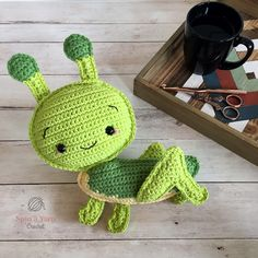 Completed crochet grasshopper Best site ever