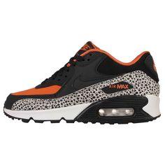 check out b8023 f606e Nike Air Max 90 Safari GS Black Orange Kids Womens Running Shoes 820340-100