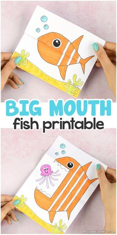 Surprise Big Mouth Fish Printable Paper Craft for Kids