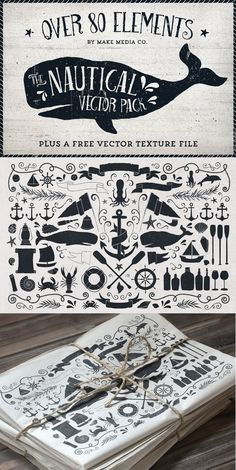 The Nautical Vector Pack by MakeMediaCo.