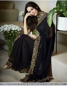 Sarees Online - Buy Latest collection of Fancy Sarees, Designer Sarees, Bollywood Sarees Online in India. Wide range of Saris for every occasion like wedding, festivals, sangeet. Georgette Saree Party Wear, Saree Dress, Georgette Sarees, Georgette Fabric, Red Saree, Saree Blouse, Trendy Sarees, Stylish Sarees, Saree Designs Party Wear