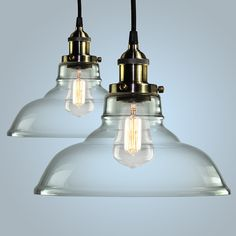 Pendant Light Hanging Glass Ceiling Mounted Chandelier Fixture, SHINE HAI Modern Industrial Edison Vintage Style, Pack of 2 *** Tried it! Love it! Click the image. : DIY : Do It Yourself Today