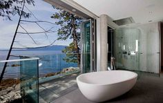YOU cant get better than this , a bathroom with a beautiful view outside .WHAT can you ask for ,if you get a mesmerizing view outside while having a bath in your bath tub .IF you dont have neighbours to disturb than you blindly go for the below bathroom designs & i am sure youRead more