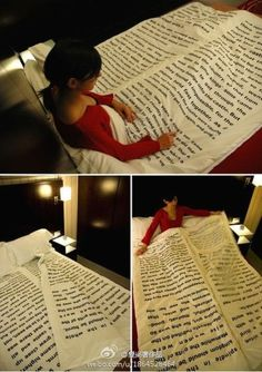 Book blanket! What a cool Christmas gift! (Big Cool Bedrooms)
