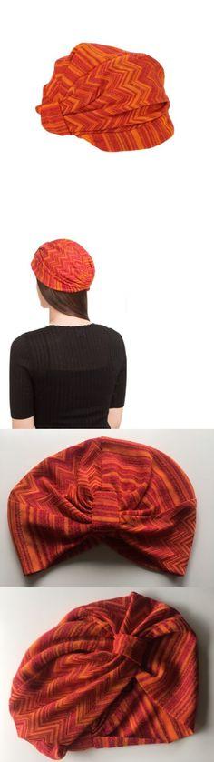 Hair Accessories 45220: Nwt Gorgeous Missoni Mare Orange Zig-Zag Knit Beach Turban Headband 1 Size Italy -> BUY IT NOW ONLY: $125 on eBay!
