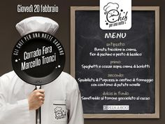 CHEF FOR ONE NIGHT – PEEK-A-BOO – CAGLIARI -THURSDAY FEBRUARY 20,2014