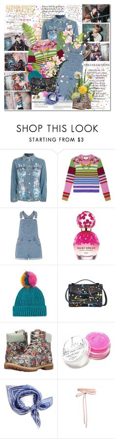 """Until spring comes again...."" by purplecherryblossom ❤ liked on Polyvore featuring Topshop, Gucci, Dorothy Perkins, Marc Jacobs, Loeffler Randall, Timberland, Rebecca Minkoff, Spring, love and bts"