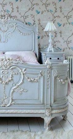 Antique elegant French bedroom  - furniture lighting & home decor at www.rubylane.com @rubylanecom