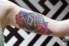 Accordion by Rodrigo DC, LTW Tattoo Studio.