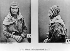 DigitaltMuseum - Roland Bonaparte sin samling. Portrett av Anna Marie Persdotter Nutti. Inngår i Bonapartes sameportretter som nr. 17. Bonaparte