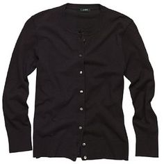 I don't know how I would live without my black cardigan~Black J. Crew Cardigan