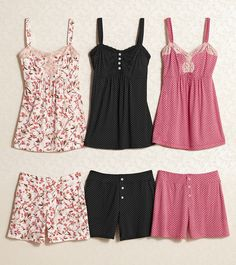 Embraceable Cool Nights Sleepwear - Luxuriously soft pj shorts and pretty camis trimmed with lace. #SomaIntimates