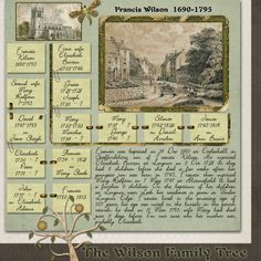 #heritage #scrapbook #layout for distant ancestors before photography existed