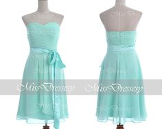Mint Wedding Dresses Mint Formal Dresses Strapless by MissDressesy, $95.00... They do custom fit for $10 more.