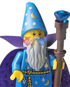 LEGO Wizard Minifigure Photo from Minifigures Series by Brick2you