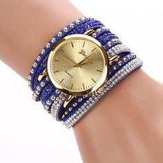 New Ladies Luxury Crystal Rivet Bracelet Watch - Perfect For All Occas – Big Star Trading Store